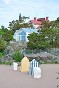 Strandhäuser an Finnlands Küste