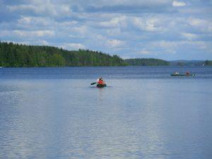 Kanu auf finnischem See